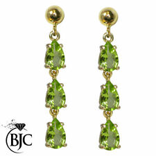Peridot Pear Not Enhanced Fine Earrings