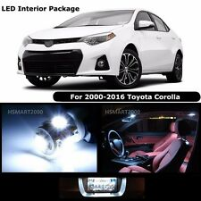8PCS Cool White Interior LED Bulbs Package Kit for 2000 - 2016 Toyota Corolla