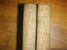 European Life and Manners, 1849 first editions, 2 volumes, agriculture classic
