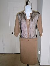 Jean Paul GAULTIER Maille Femme Sheer Mesh Mock Jacket Sweater Knit Dress Sz M