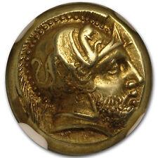 Lesbos, Mytilene EL Hecte Ares/Amazon (412-378 BC) AU NGC - SKU#153868