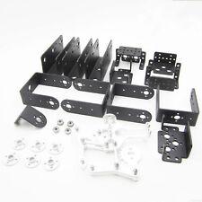 ROT3U 6DOF Aluminium Robot Arm Mechanical Robotic Clamp Claw for Arduino Black