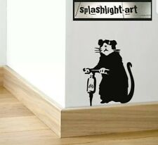 Banksy (S) Drilling Rat Skirting Board wall Vinyl Decal sticker vinyl funny