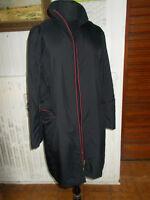 Manteau Veste polyester noir leger et chaud ANA MONZA M 38/40 liseré rouge