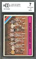 San Antonio Spurs Cl Team Card 1975-76 Topps #327 BGS BCCG 7