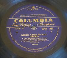 Bartok, Hindemith, Karajan - Music For Strings 1962 U.K. Columbia – 33CX 1783