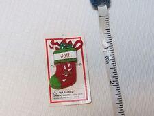 Itsy Bitsy Stocking Ornament name Jeff NEW MINI Ganz personalized Christmas gift