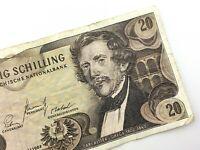 1967 Austria 20 Zwanzig Schilling Circulated Banknote Twenty Schilling S073