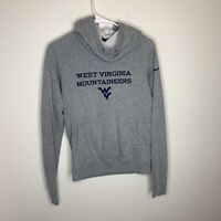 Nike Womens S Grey West Virginia WV Mountaineers Hoodie With Scoop Neck
