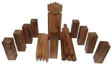 Kubb Wikinger Spiel Outdoor Mannschafts Spiel edles Design hartes Samena Holz