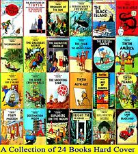 Tintin Comics Books Series Collection by Herge-Brand New 24 Hardcovers (English)