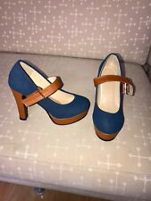 Size 3 (UK) 36 (EU) Women Fashion Thick Heel Platform Shoes Pumps.