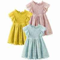 Flower Girl Princess Sleveless Dress Kids Baby Party Wedding Pageant Lace Dress