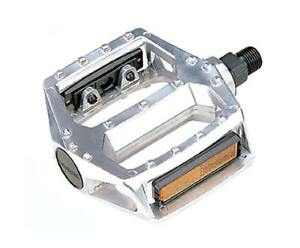 """Alloy Platform Pedals 9/16"""" Silver Bicycle Pedals City BMX Mountain"""