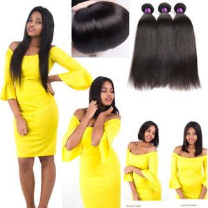 4 Bundles 100% Brazilian Unprocessed Virgin Straight Wave Human Hair Extensions