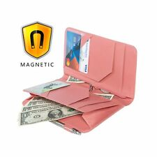 Server Books for Waitress Pink 5x9 Waiter Organizer Magnetic with Zipper Pock.