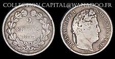 2 Francs Louis Philippe 1er 1832B (Rouen) Cote TB 90€, TTB 170€ Argent