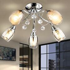 LED Design Luminaire de Plafond la Vie Chambre Chrome Spot Verre Cristal