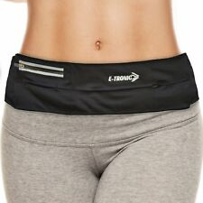 (NEW DESIGN) Lightweight Running Belt Waist Pack  - For Running or Gym (Black)