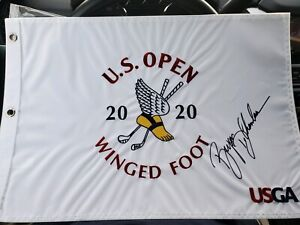 Bryson DeChambeau Signed 2020 US Open Championship Flag Winged Foot