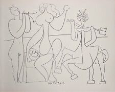 Pablo Picasso Lithograph Mythical Drawing I Antibes 1960