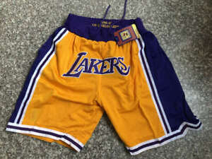 Yellow Los Angeles Lakers NBA Shorts for sale   eBay