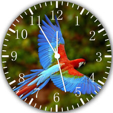 Colorful Parrots Frameless Borderless Wall Clock Nice For Gifts or Decor W273