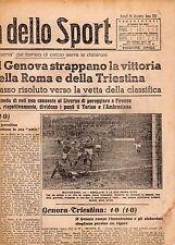 LA GAZZETTA DELLO SPORT DEL LUNEDI'  28 DICEMBRE  1942   NR 308