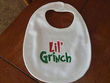 Embroidered Baby Bib - Lil' Grinch