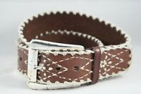 "MICHAEL KORS ~ Womens Brown Genuine Leather Belt ~Size Medium 2"" Wide"