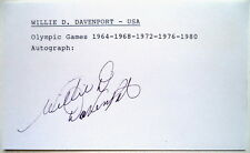 WILLIE DAVENPORT 1968 OLYMPIC 110m HURDLES GOLD AUTOG