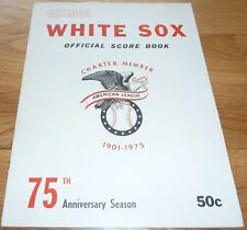 1975 CHICAGO WHITE SOX VS OAKLAND A's SCORED SCORECARD-PROGRAM 5
