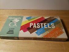 Vintage Alphacolor Weber Costello Pastels 12 Sticks Art Pastel Paint