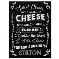 FUNNY METAL SIGN XMAS GIFT FOR CHEESE LOVERS STOCKING FILLER PRESENT IDEA MEN