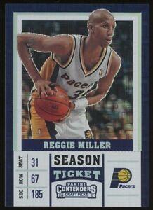 2017 Contenders DP Building Blocks Season Ticket Reggie Miller Pacers HOF /10