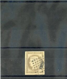 FRENCH INDIA, FORERUNNER (YT 20)VF 30c BROWN, INDIE+GRID  $100