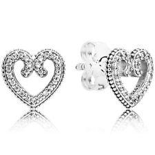 PANDORA Ohrstecker Ohrringe Earrings 297099 CZ Herzen Silber