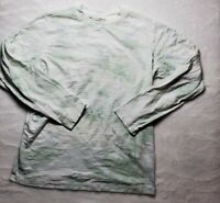 Wilfred Free Long Sleeve Tie Dye Shirt Small Women's White Green Used