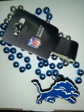 Detroit Lions beaded necklace, New with tags