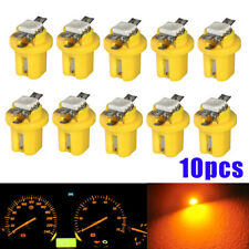 10pcs T5 B8.5D 5050 1SMD LED Dashboard Dash Gauge Instrument Lights Yellow Bulbs