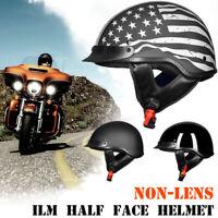 ILM Motorcycle Half Face Helmet DOT Approved Bike Cruiser ATV without Visor