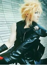 HOT Sell! Final Fantasy VII Cloud Strife Short Blonde Anime Cosplay Wig#4