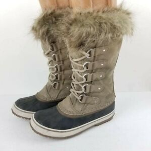 SOREL JOAN OF ARCTIC Women's Winter Snow Boots US 7 Shearling lace Up