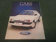 July / August 1985 FORD FIESTA DASH Special Edition - UK FOLDER BROCHURE - FA719