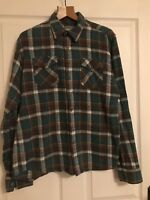Excellent Chor Size L Green, Blue and white  Check Shirt