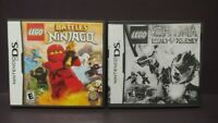 Lego Ninjago + Chima Journey - Nintendo DS Lite 3DS 2DS 2 Game Lot Tested