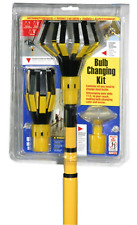Light Bulb Changer Kit 11 Ft Extension Pole Steel Universal Suction Gripper Tool