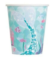 MERMAID PAPER CUPS PACK OF 8 BIRTHDAY PARTY SUPPLIES