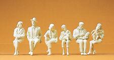 Preiser 45179 Persone sedute, 6 personaggi non colorati, per LGB , 1: 22,5