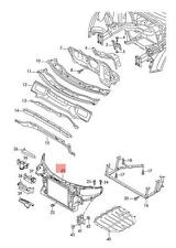 Genuine Lock carrier with mounting for coolant radiator AUDI 8J0805594G